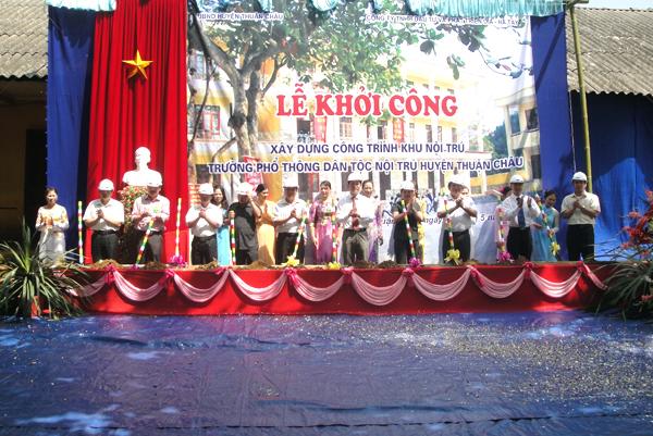 Công đức Xây dựng Khu Nội trú Trường Phổ thông Dân tộc Nội trú Thuận Châu
